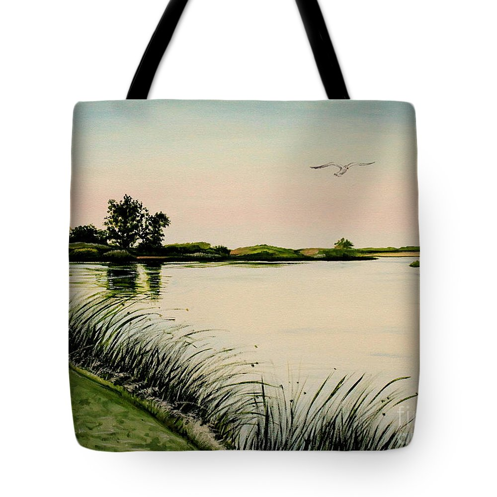 Landscape Tote Bag featuring the painting Delta At Dusk by Elizabeth Robinette Tyndall