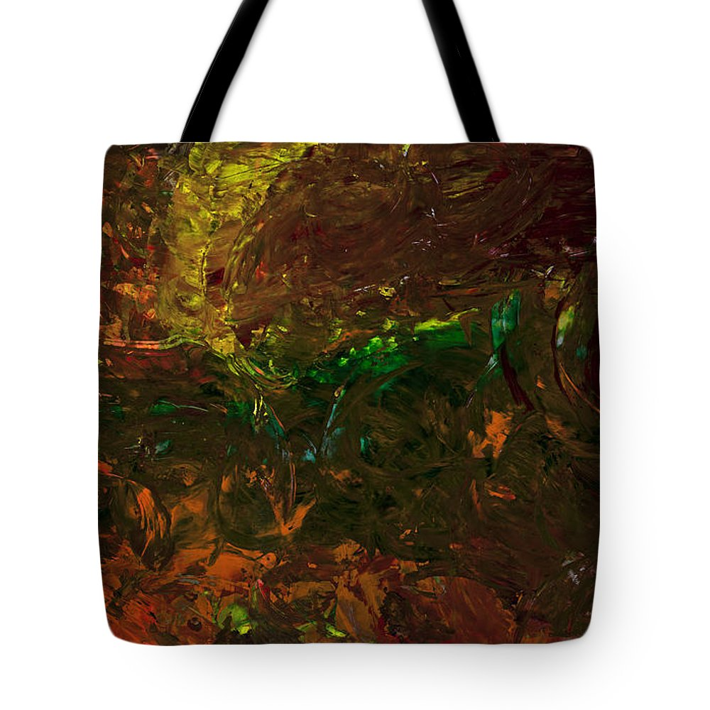Abstract Tote Bag featuring the painting Delve by Matthew Hahn