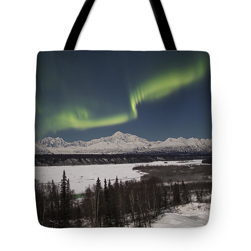 Alaska Tote Bag featuring the photograph Denali Whisper by Ed Boudreau