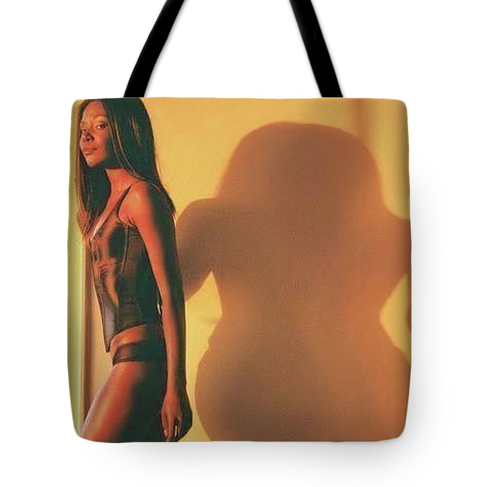 Model Tote Bag featuring the photograph Denise And Shadow by Ace Micheals