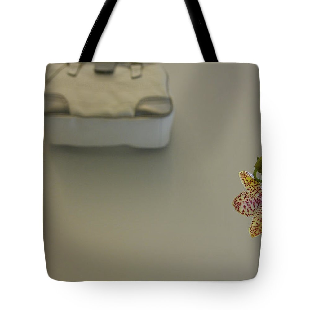 Close-up Tote Bag featuring the photograph Denmark, Copenhagen Orchid In A Room by Keenpress