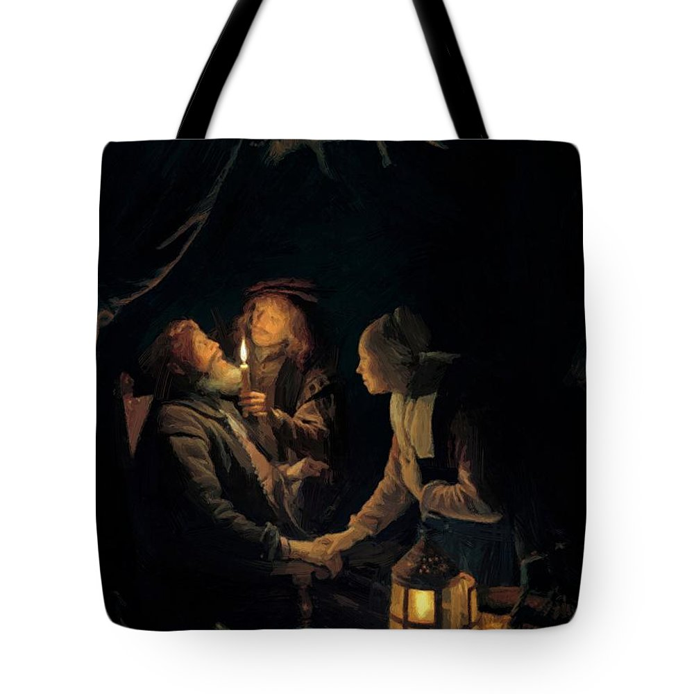 Dentist Tote Bag featuring the painting Dentist by Dou Gerrit