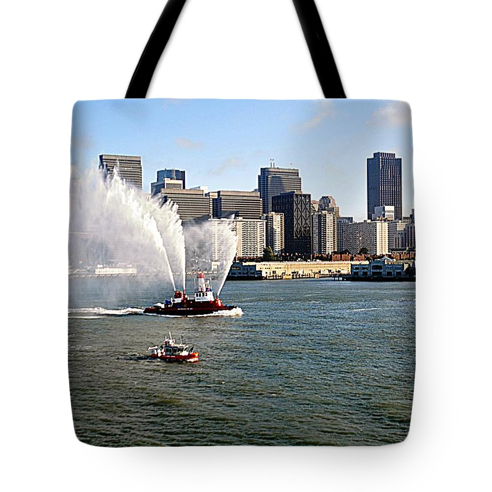 San Francisco Tote Bag featuring the photograph Departure by John Hughes