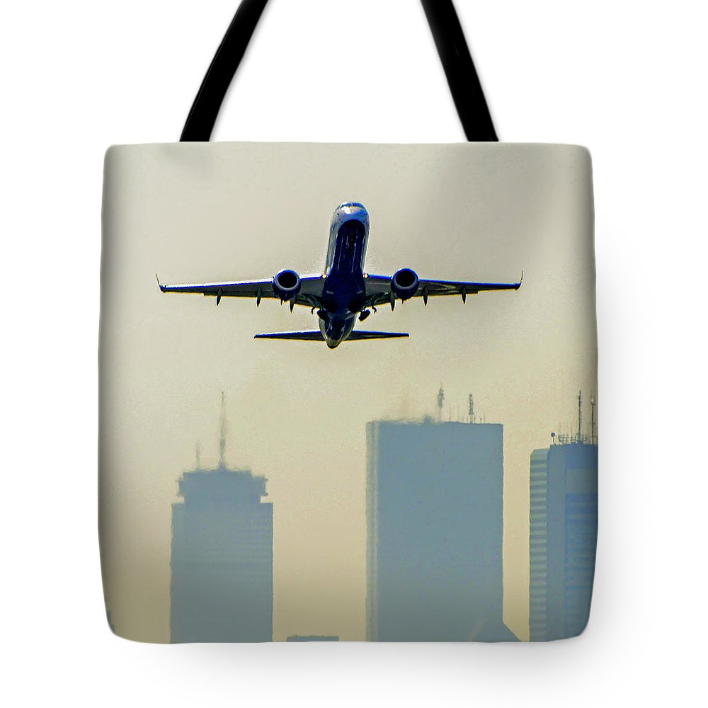 Boston Tote Bag featuring the photograph Departure by Kevin Myron