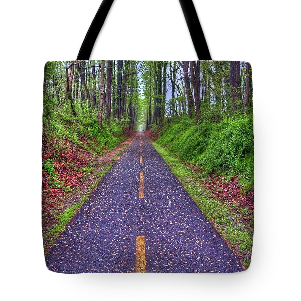 Landscape Tote Bag featuring the photograph Depth by Mitch Cat