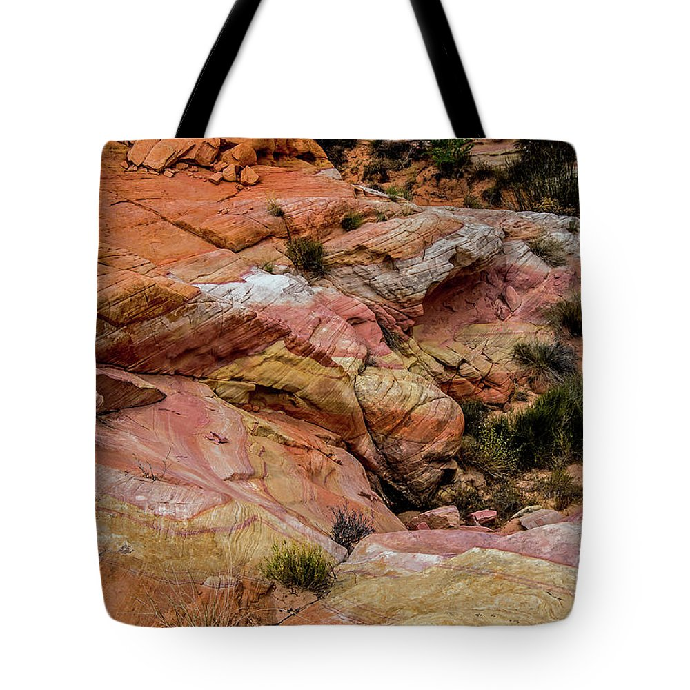 Valley Of Fire Tote Bag featuring the photograph Depth Of The Canyon by Stephen Whalen