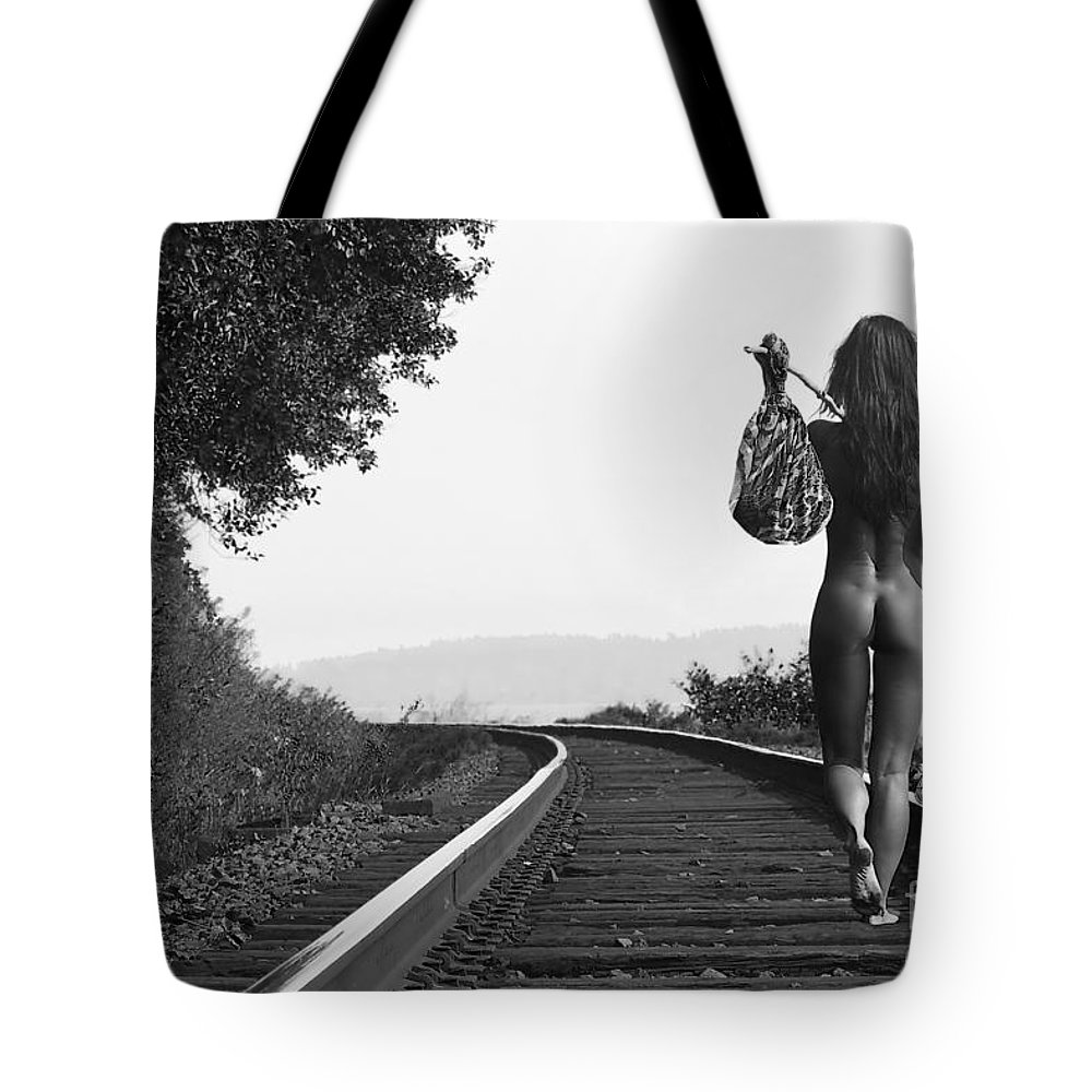 Nude Tote Bag featuring the photograph Derailed by Davids Pixels