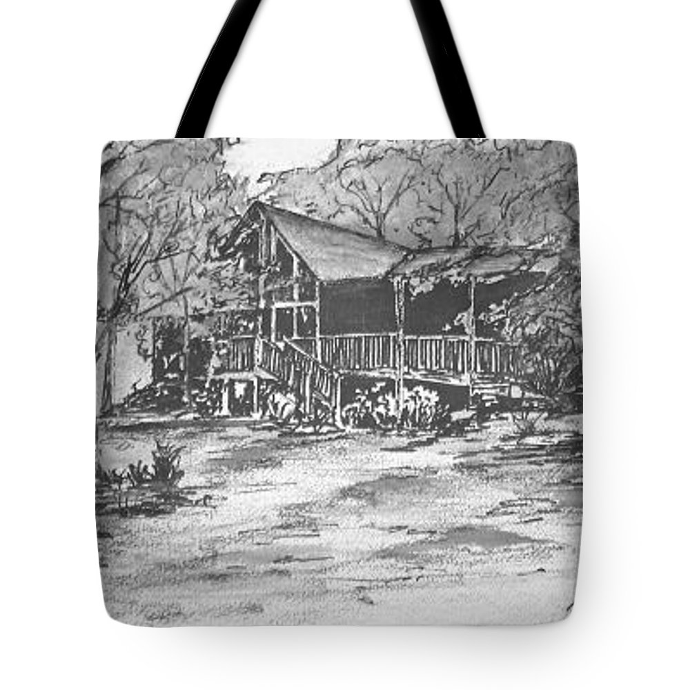 Barn Tote Bag featuring the painting Derrick by Derek Mccrea