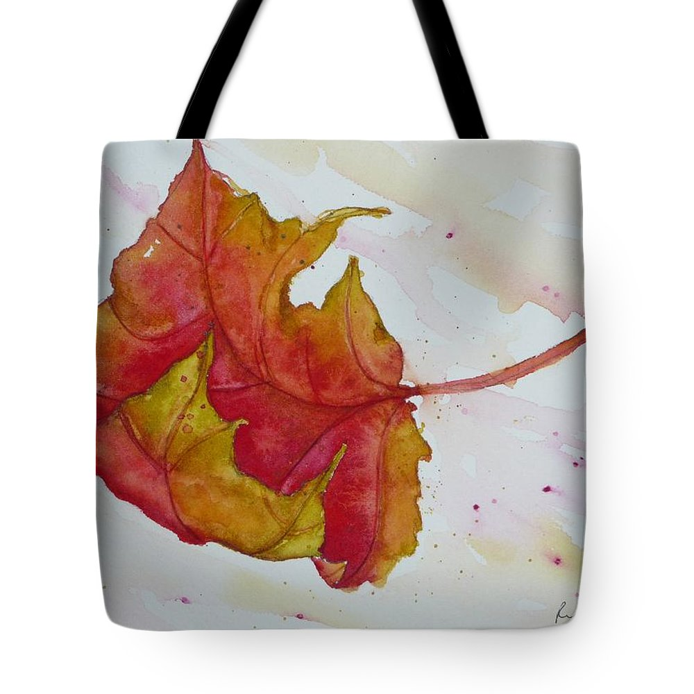 Fall Tote Bag featuring the painting Descending by Ruth Kamenev