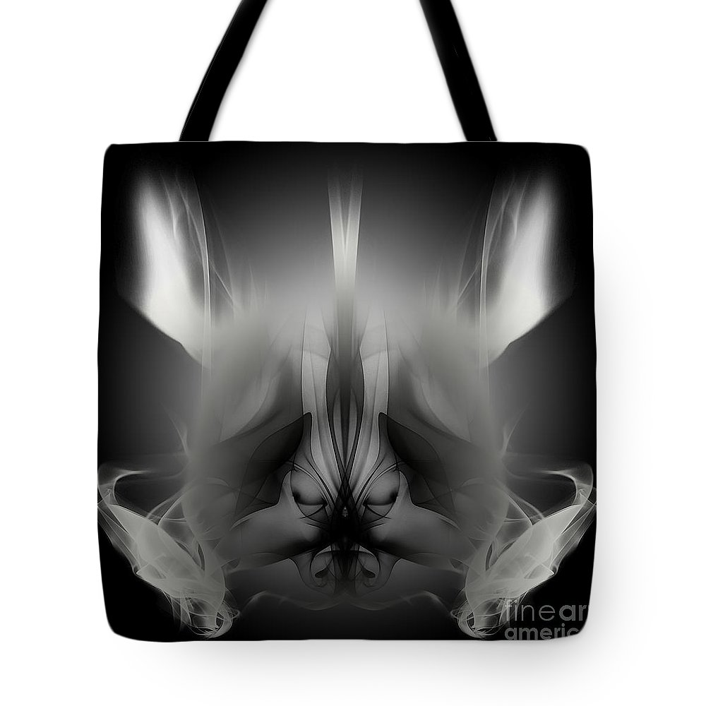 Clay Tote Bag featuring the digital art Descent by Clayton Bruster
