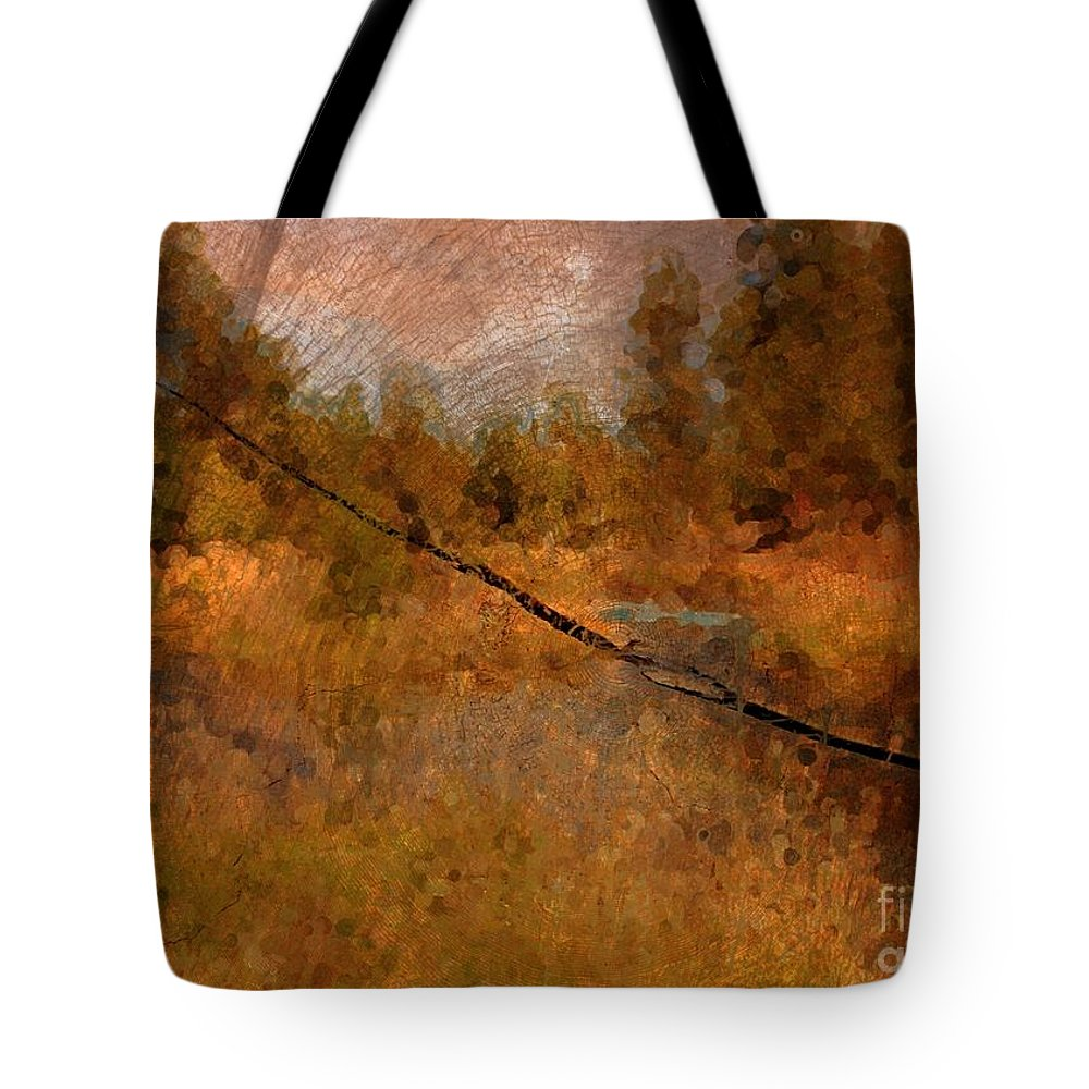 Oregon Landscape Tote Bag featuring the photograph Deschutes River Abstract by Carol Groenen