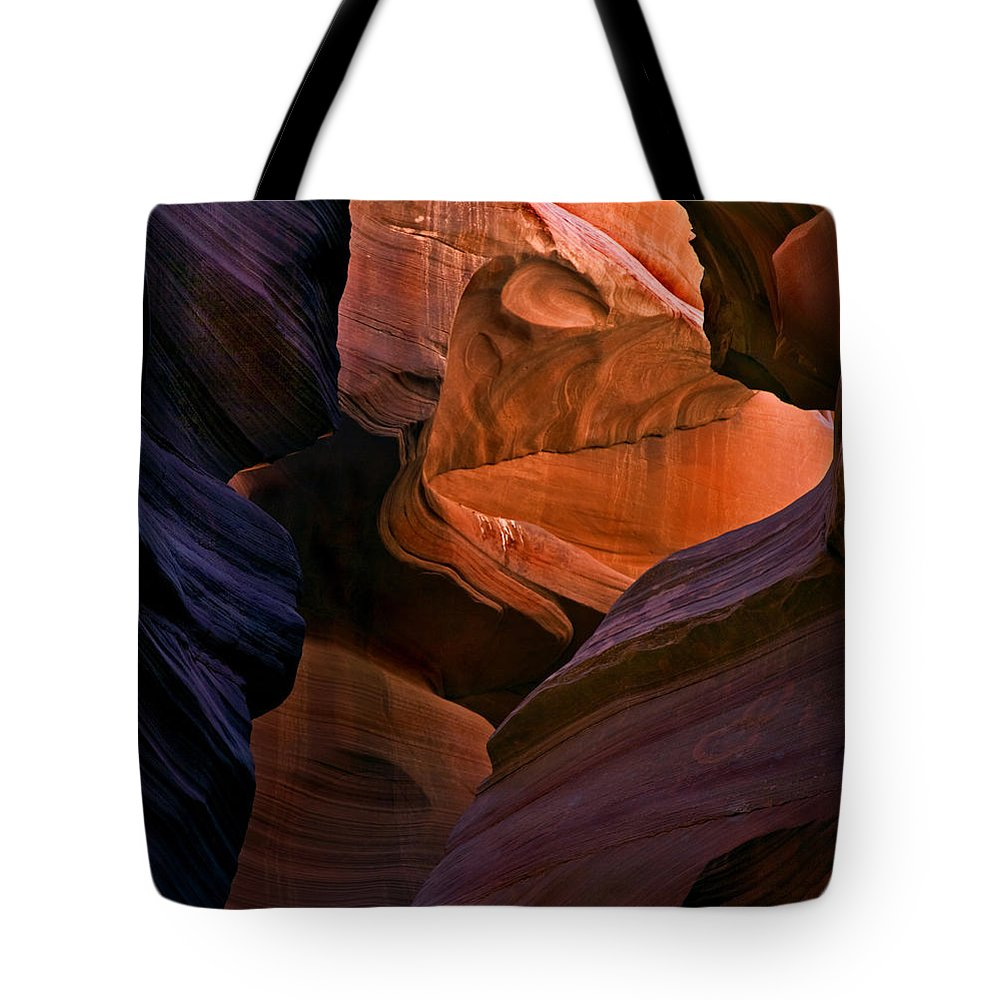 Sandstone Tote Bag featuring the photograph Desert Bridge by Mike Dawson