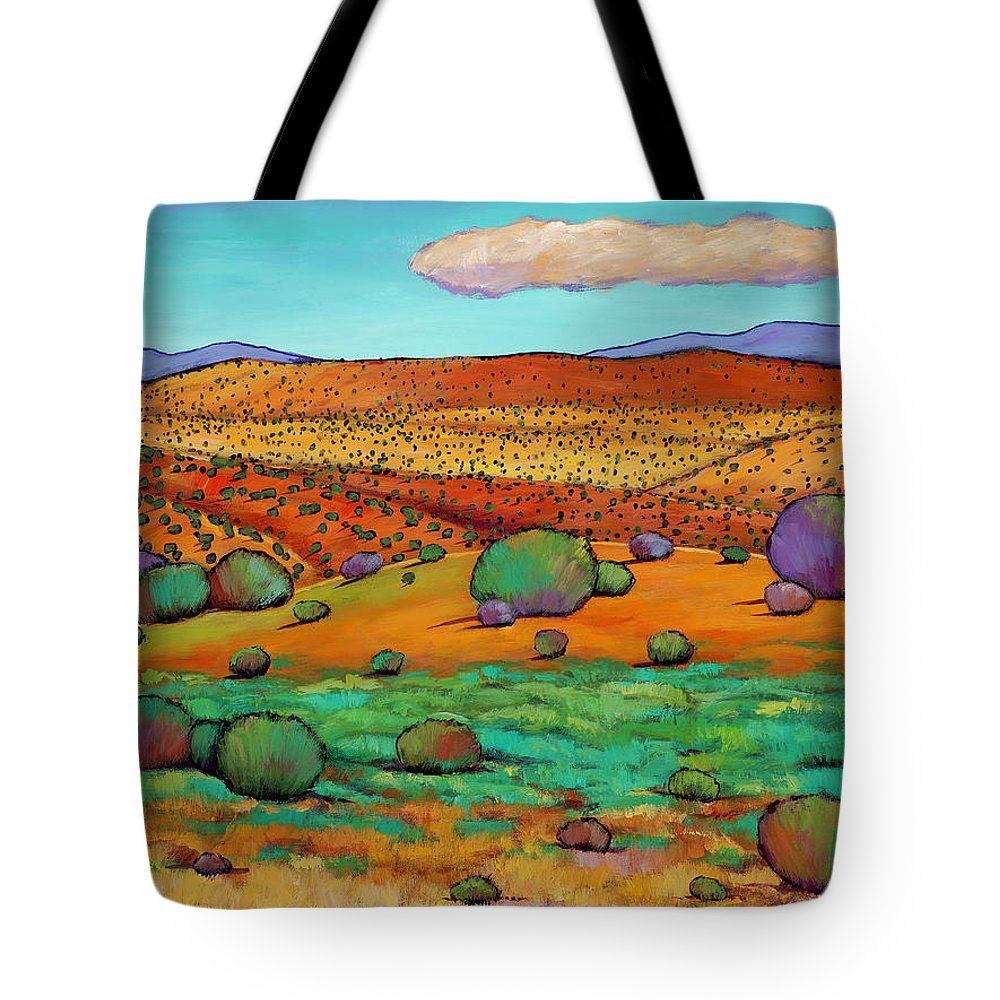New Mexico Desert Tote Bag featuring the painting Desert Day by Johnathan Harris