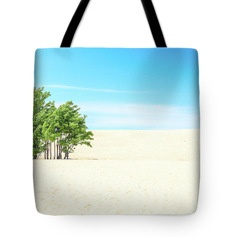 Desert Green Trees Tote Bag featuring the photograph Desert Green Trees by Dan Sproul