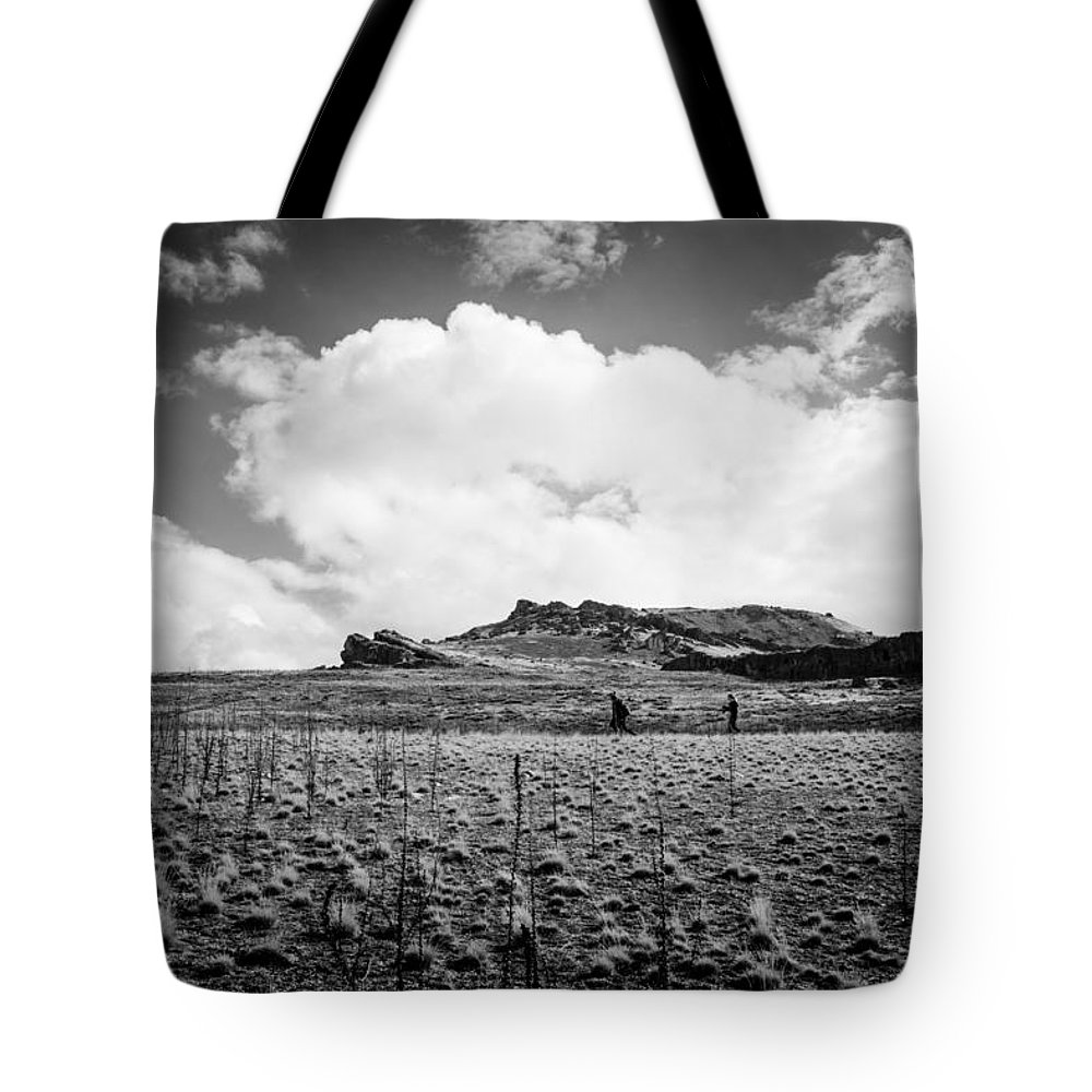 Hiking Tote Bag featuring the photograph Desert Hike by Helix Games Photography