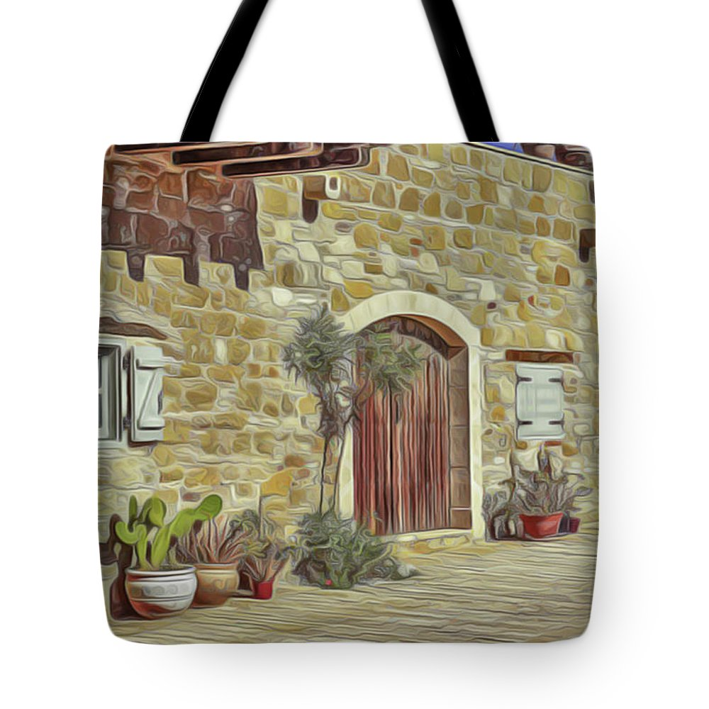 Desert House Tote Bag featuring the painting Desert House by Harry Warrick