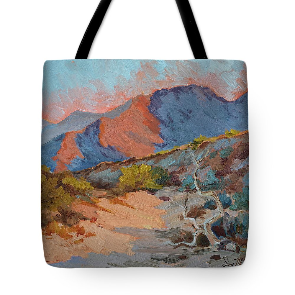 Desert Shadows Tote Bag featuring the painting Desert Shadows by Diane McClary