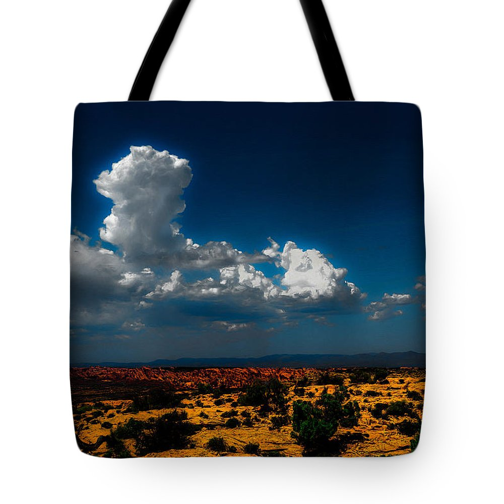 Landscape Tote Bag featuring the photograph Desert Sky by Dean Arneson