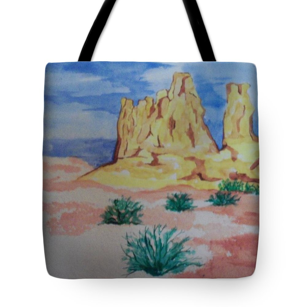 Mountains Tote Bag featuring the painting Desert Sky by Erika Chamberlin