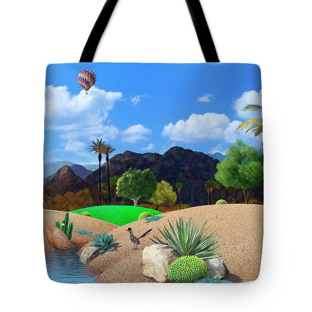 Desert Tote Bag featuring the digital art Desert Splendor by Snake Jagger