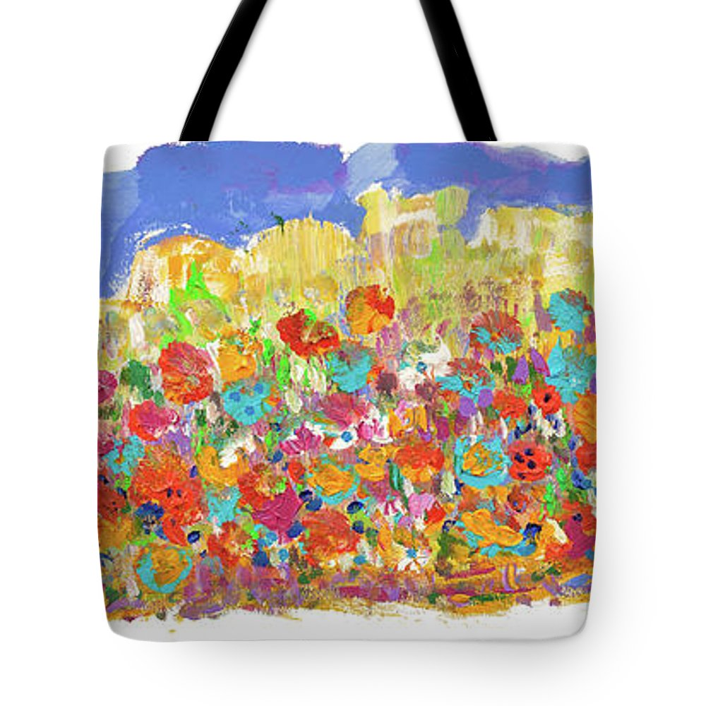 Hillcountry Tote Bag featuring the painting Desert Stars by Bjorn Sjogren