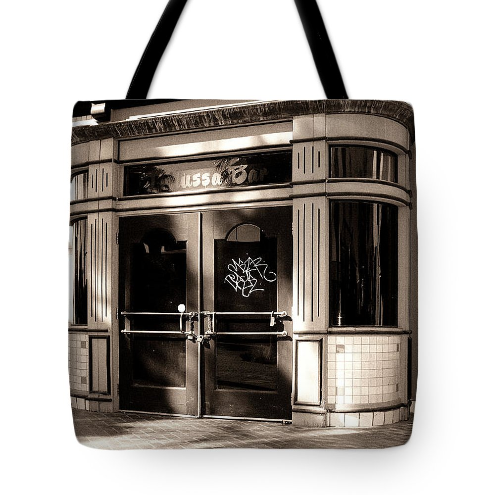 Downtown Palm Springs Tote Bag featuring the photograph Desert Trattoria by William Dey