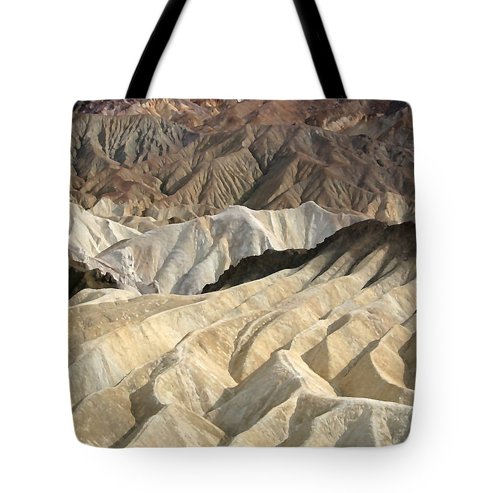 Desert Tote Bag featuring the photograph Desert Waves by Mary Haber