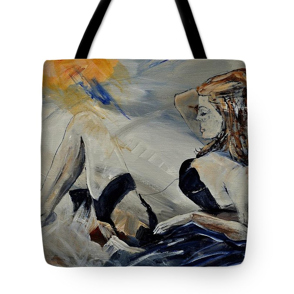 Female Tote Bag featuring the painting Deshabille 570150 by Pol Ledent