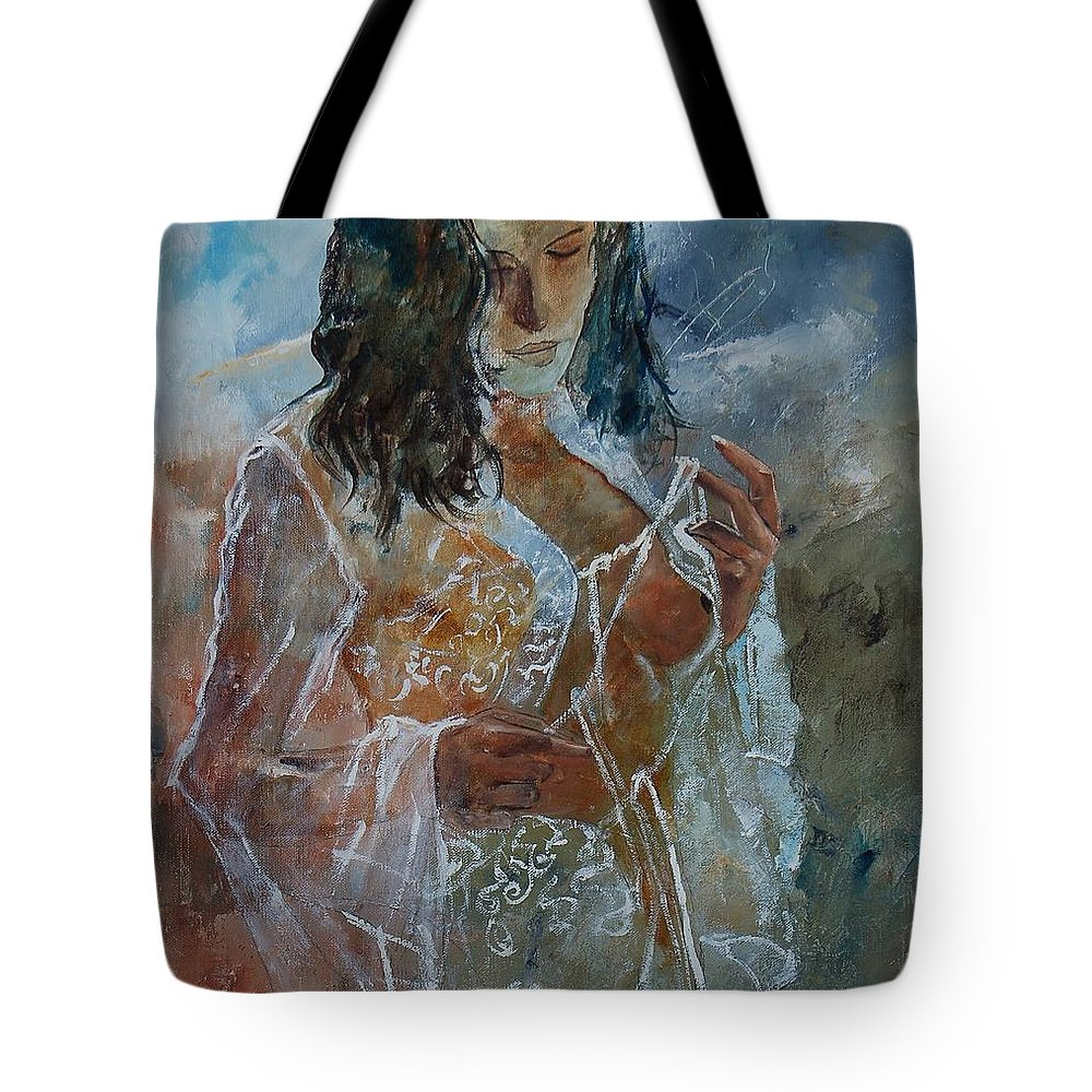 Nude Tote Bag featuring the painting Deshabille 67 by Pol Ledent