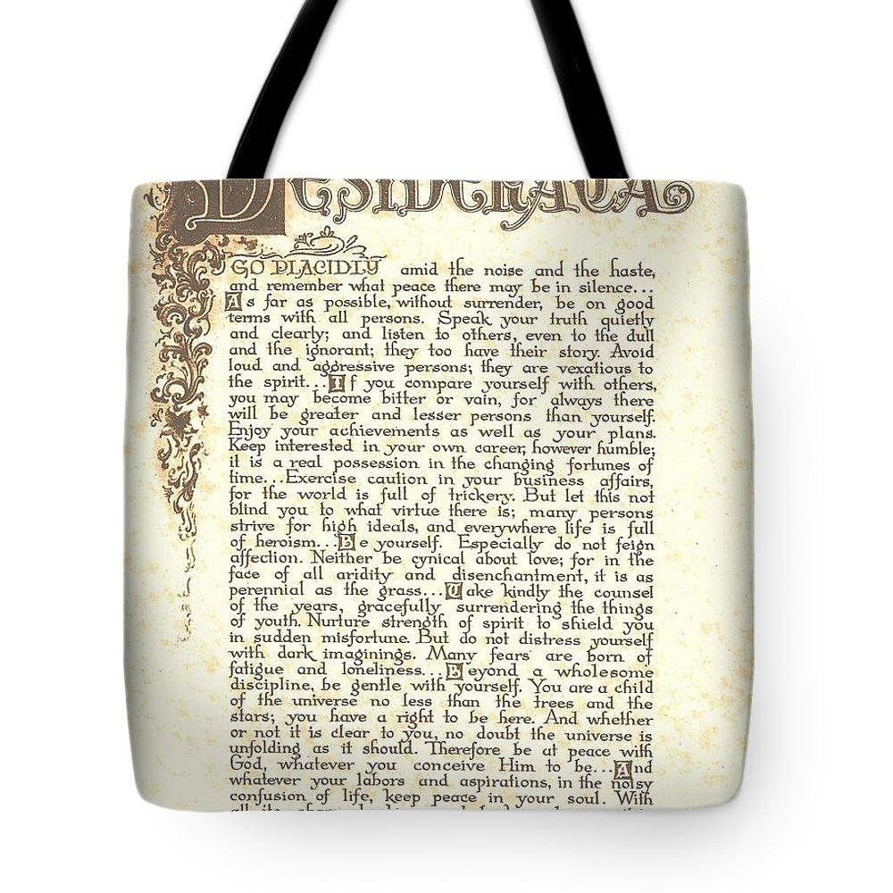 Desiderata Tote Bag featuring the painting Desiderata 4 by Desiderata Gallery