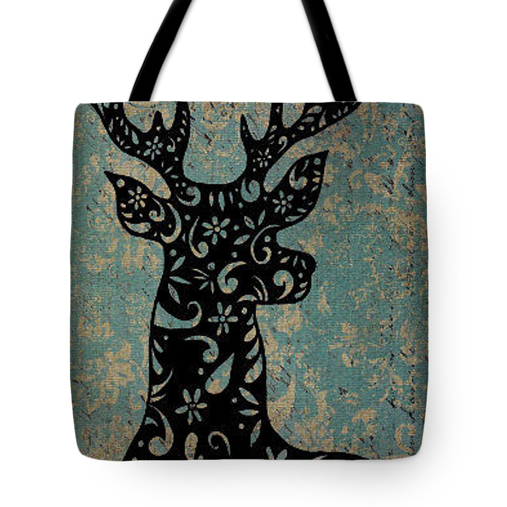 Abstract Tote Bag featuring the drawing Design Buck by Jenna Monroe