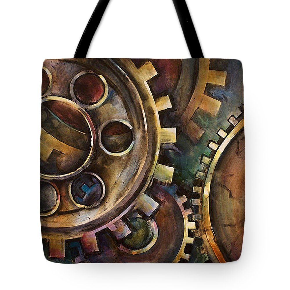 Tote Bag featuring the painting Design One by Michael Lang