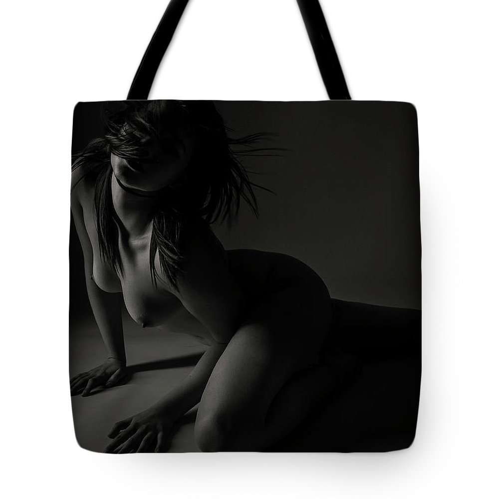 Black And White Tote Bag featuring the photograph Desire by Blue Muse Fine Art