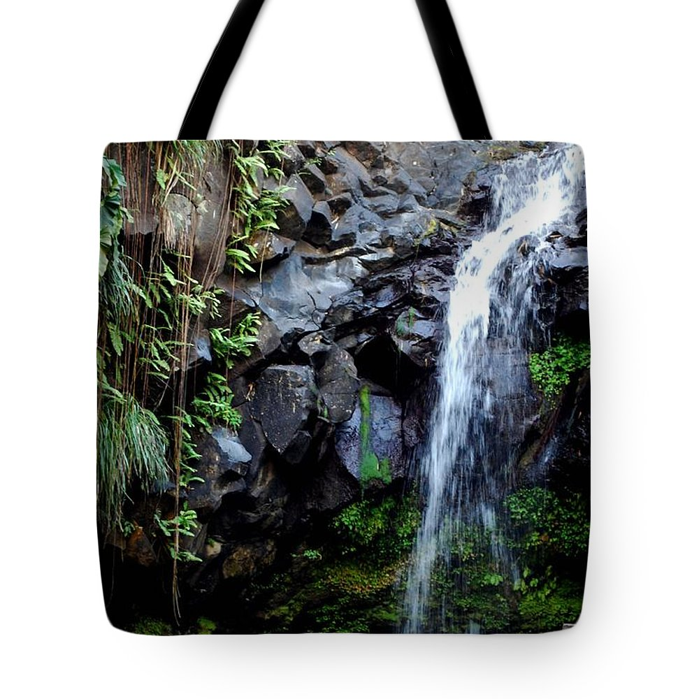 Warterfall Tote Bag featuring the photograph Desire by Gary Wonning
