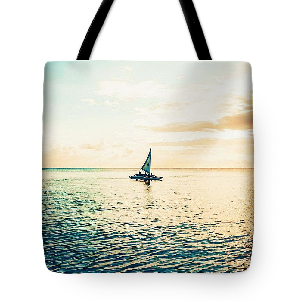 Nature Tote Bag featuring the painting Desolate by Celestial Images