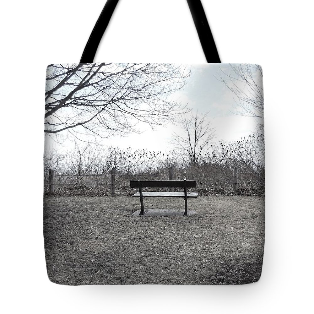 Landscape Tote Bag featuring the photograph Come Sit A While by Jennie Perry