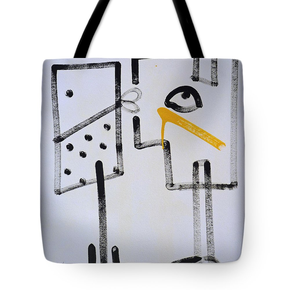 Drawing Tote Bag featuring the painting Desperados Waiting For A Train by Charles Stuart