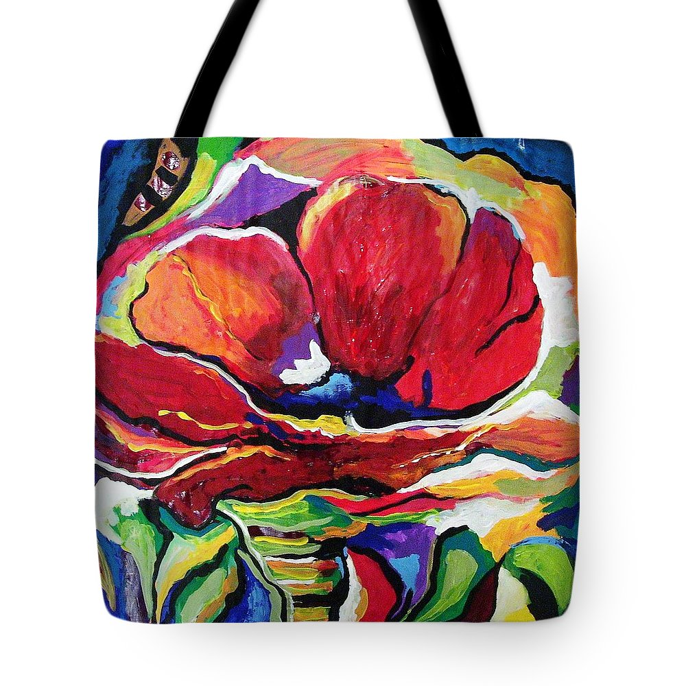 Floral Tote Bag featuring the painting Desperate For You by Gina Hulse