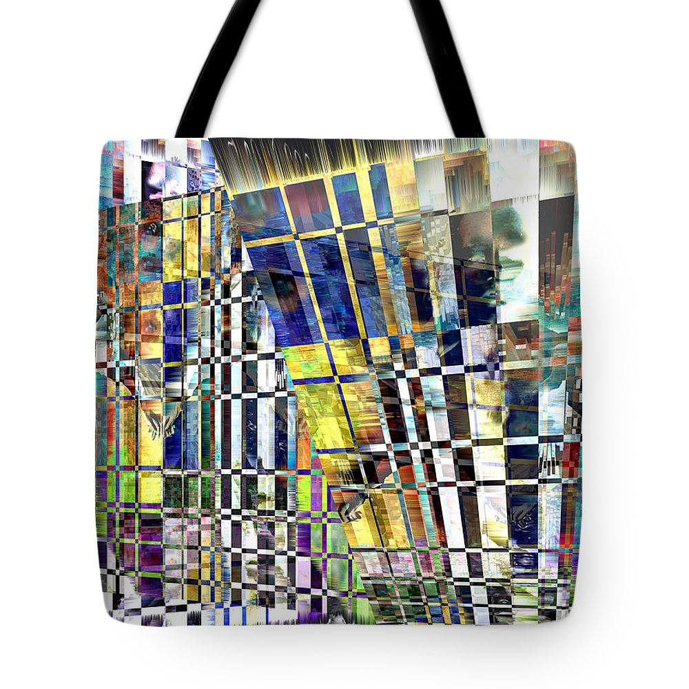 Abstract Tote Bag featuring the digital art Desperate Reflections by Seth Weaver