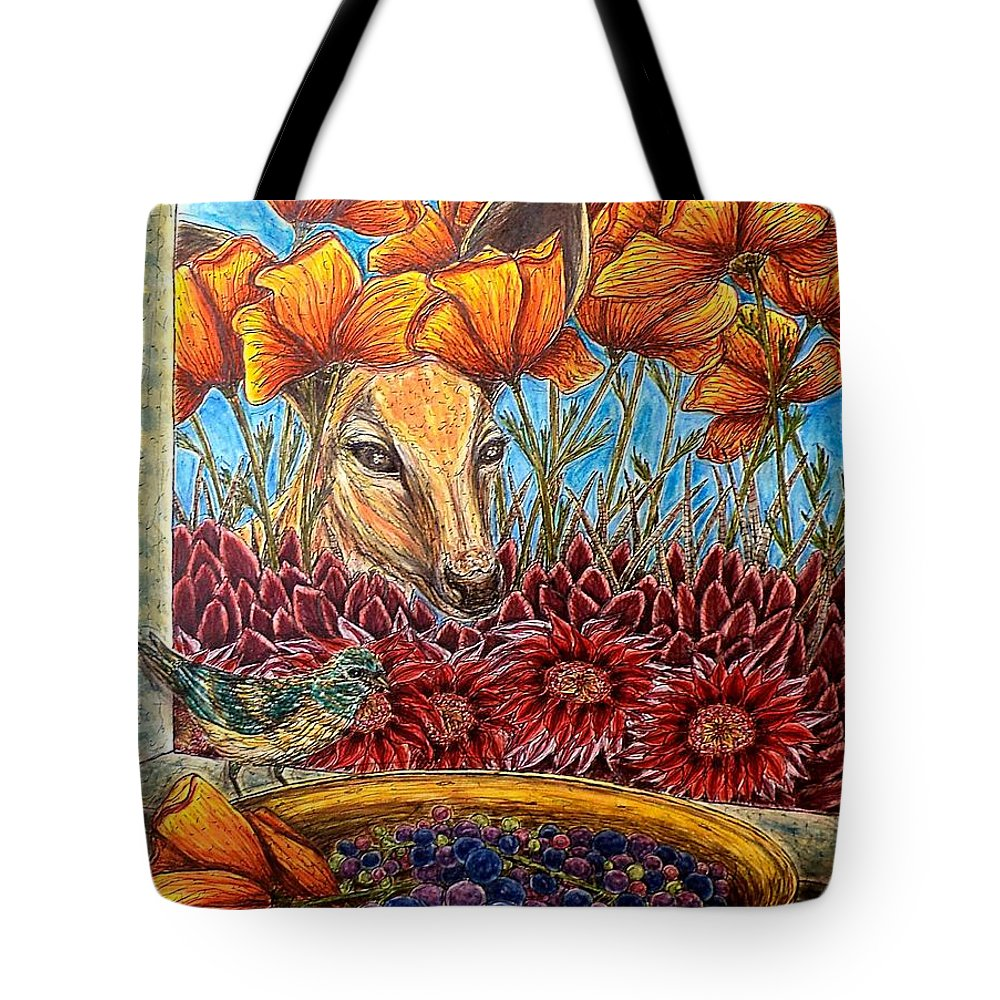 Animals Tote Bag featuring the painting Dessert Anyone? by Kim Jones