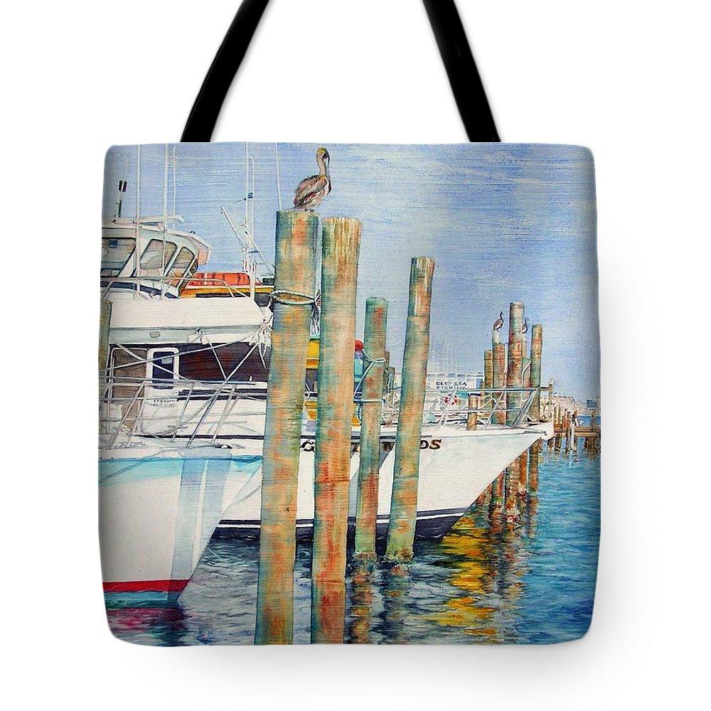 Sailboats Tote Bag featuring the painting Destination Destin Nr. One by Annika Farmer