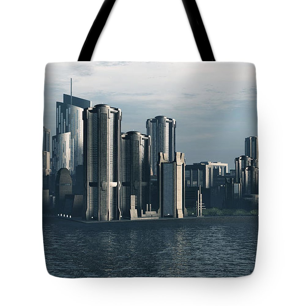 Futurism Tote Bag featuring the digital art Destiny by Richard Rizzo