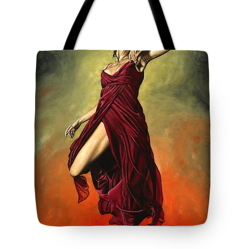 Dance Tote Bag featuring the painting Destiny's Dance by Richard Young