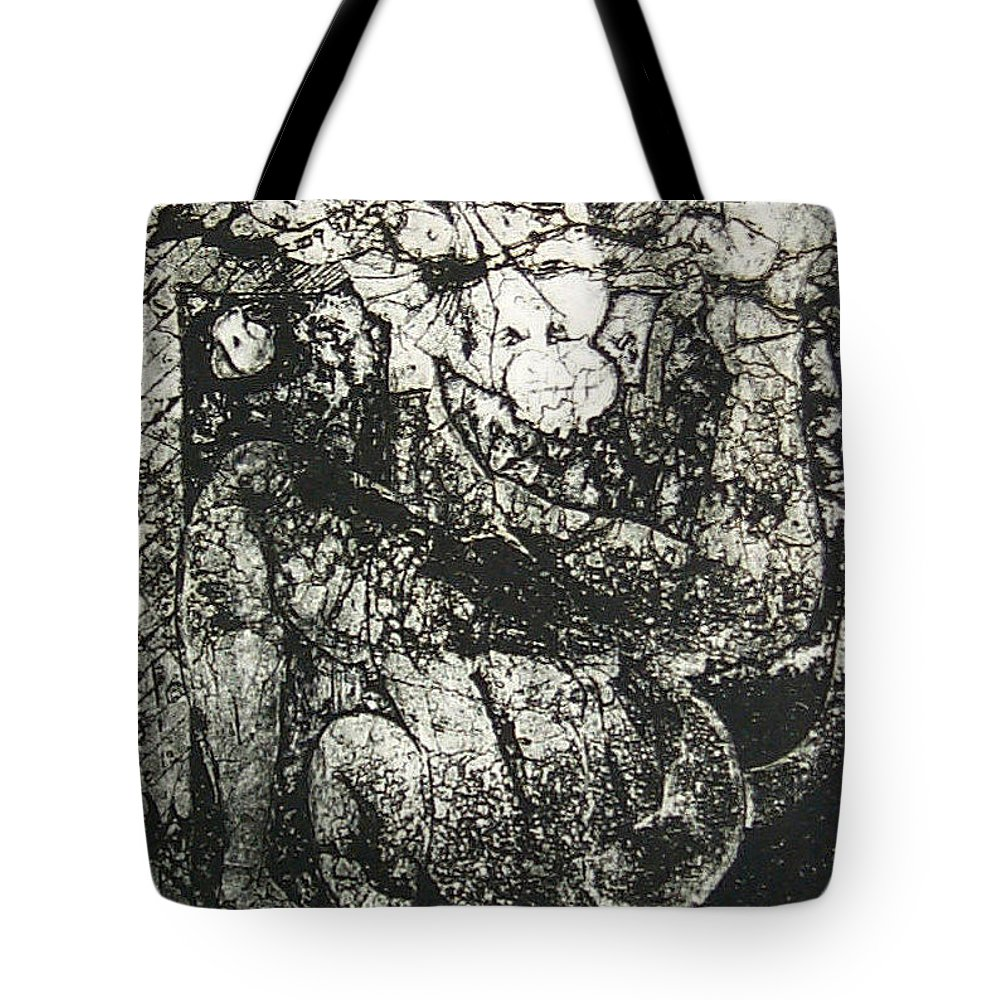 Etching Tote Bag featuring the print Destroy Plate by Thomas Valentine
