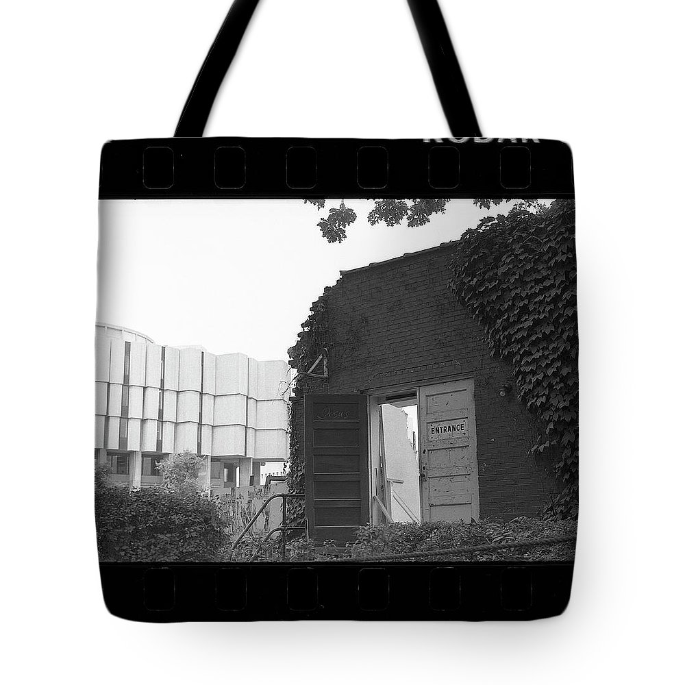 Northwestern University Tote Bag featuring the photograph Destruction Of The Speech Annex, 1980 by Jeremy Butler
