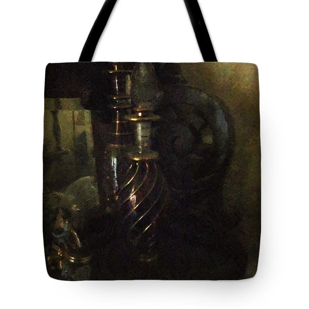 Antiquated Tote Bag featuring the painting Detail - Miss Havisham's Parlor by RC DeWinter