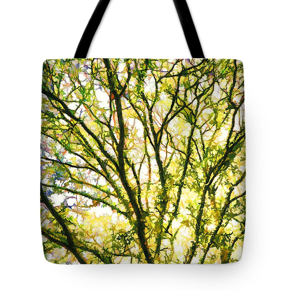 Detailed Tree Branches Tote Bag featuring the painting Detailed Tree Branches 1 by Jeelan Clark