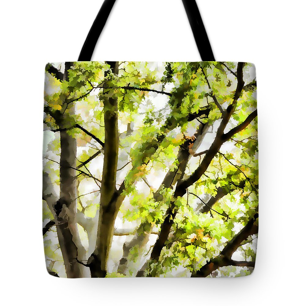 Detailed Tree Branches Tote Bag featuring the painting Detailed Tree Branches 3 by Jeelan Clark