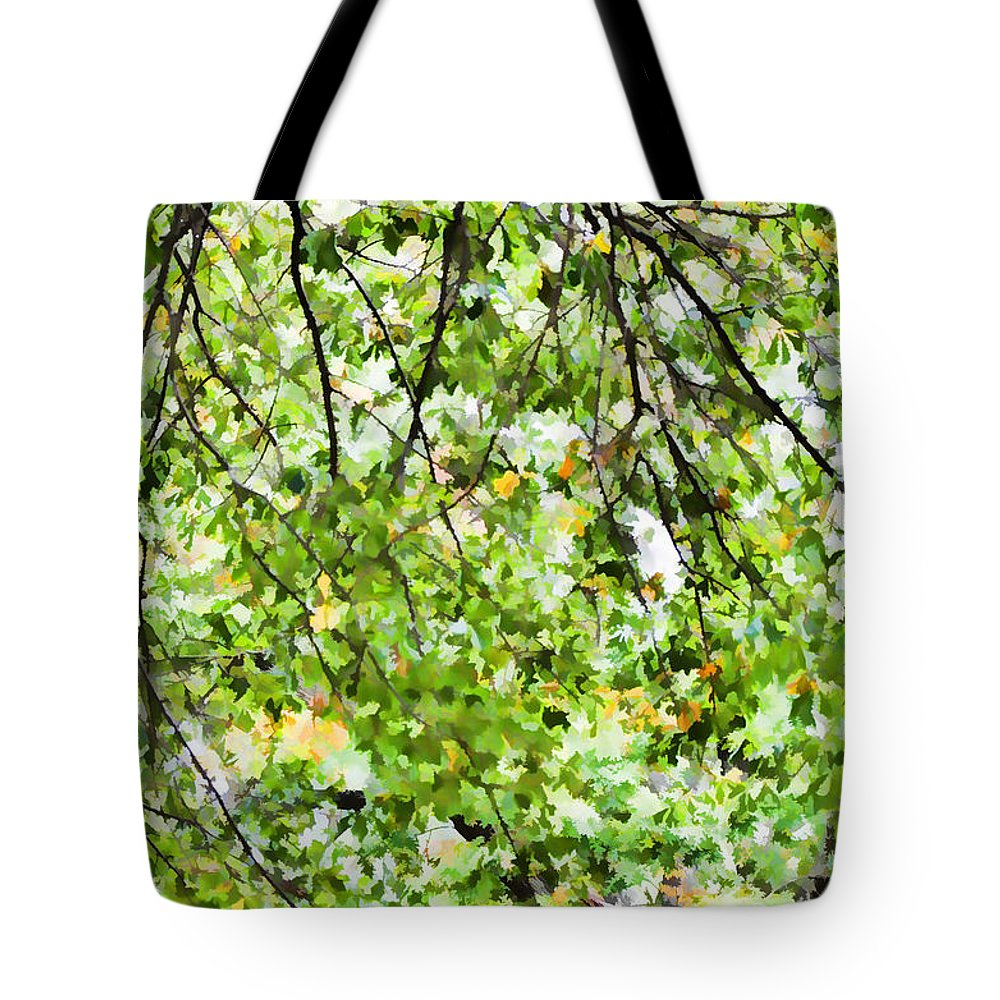 Detailed Tree Branches Tote Bag featuring the painting Detailed Tree Branches 4 by Jeelan Clark