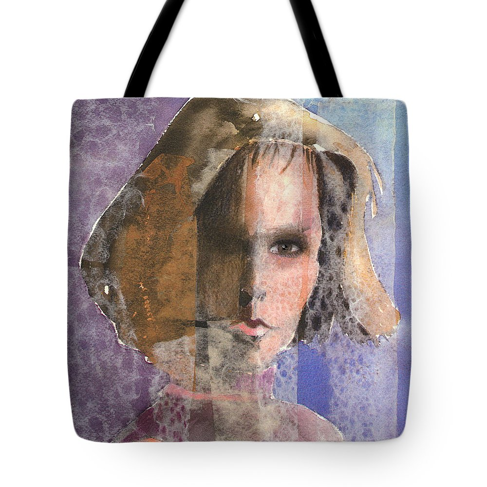 Woman Tote Bag featuring the mixed media Determination by Arline Wagner